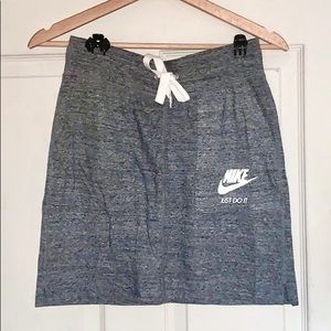 ☑️🤍👟 NIKE Grey Drawstring Mini Skirt ✨